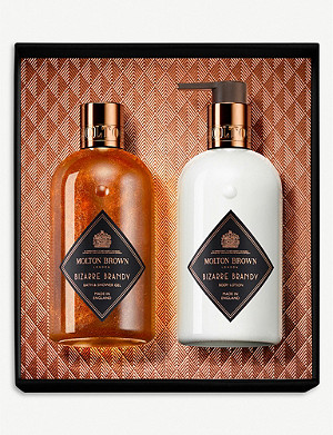 MOLTON BROWN Bizarre Brandy Body Wash and Lotion gift set of two