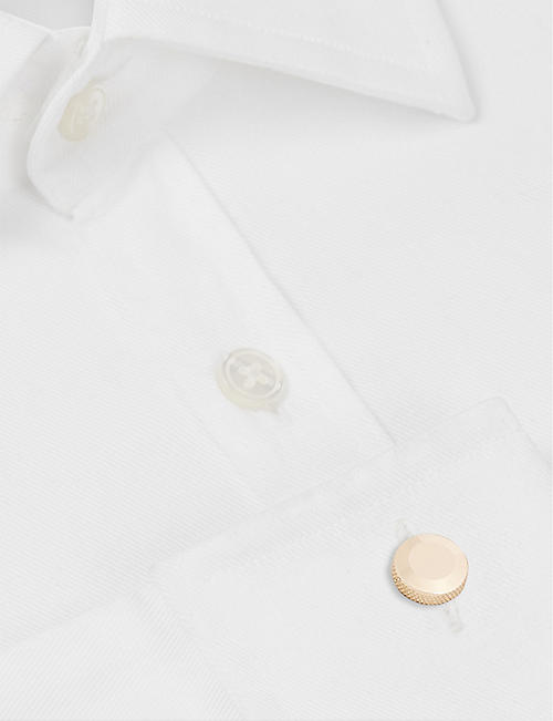 ALICE MADE THIS Oliver 24ct rose gold-plated vermeil silver cufflinks