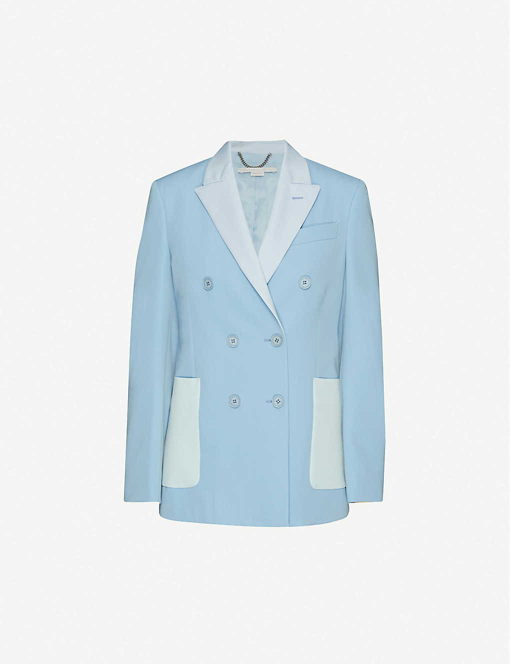STELLA MCCARTNEY: Double-breasted wool-blend blazer