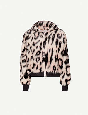 STELLA MCCARTNEY Leopard-print faux-fur bomber jacket