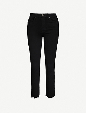 GRLFRND Reed mid-rise slim-fit cropped jeans