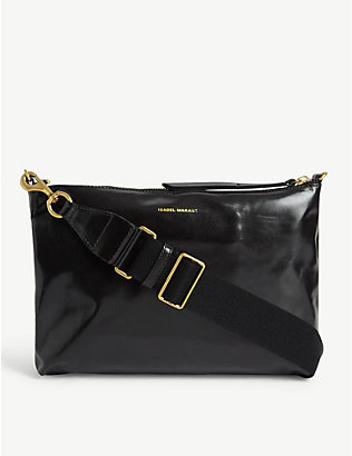 ISABEL MARANT: Nessah leather shoulder bag