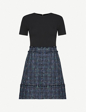TED BAKER Fearnic cotton-blend tweed mini dress