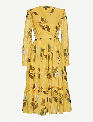 TED BAKER Elissea Savannah-print crepe midi dress