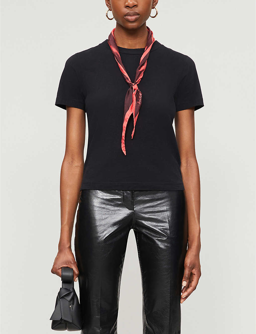 ACNE STUDIOS: Round neck cotton-jersey T-shirt