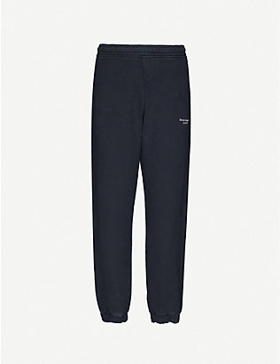 ACNE STUDIOS: Reverse logo-print cotton-jersey jogging bottoms