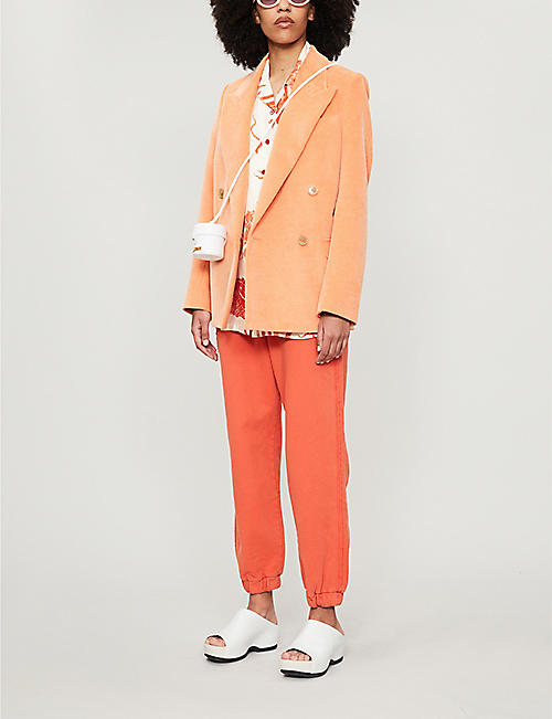 ACNE STUDIOS Reverse logo-print cotton-jersey jogging bottoms