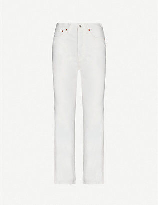 ACNE STUDIOS: Mece straight high-rise jeans