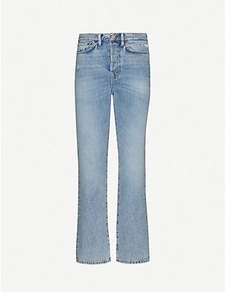 ACNE STUDIOS: Mece straight-leg high-rise jeans