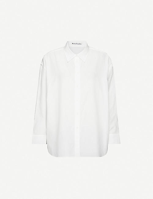 ACNE STUDIOS: Relaxed-fit cotton-poplin shirt