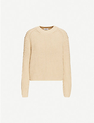 ACNE STUDIOS: Relaxed-fit cotton-blend knit jumper