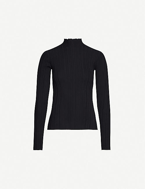 ACNE STUDIOS: High-neck cotton-blend knit top