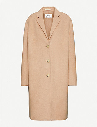 ACNE STUDIOS: Notch-lapel oversized-fit wool coat