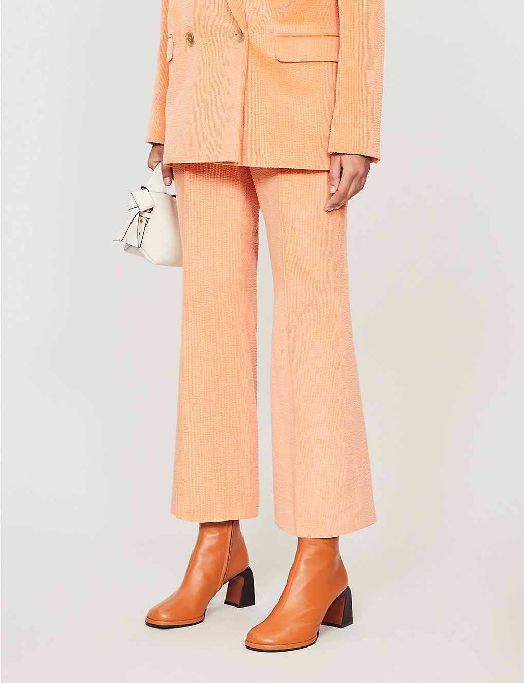 ACNE STUDIOS: Cropped high-rise corduroy trousers