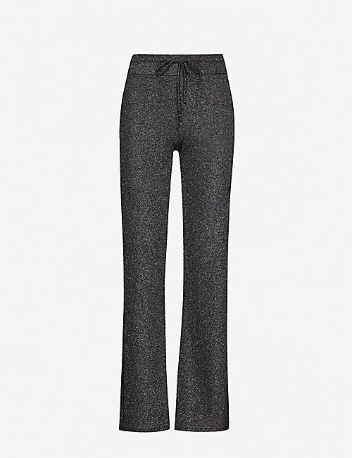 BEACH RIOT Sparkle drawstring-waistband stretch-knit trousers