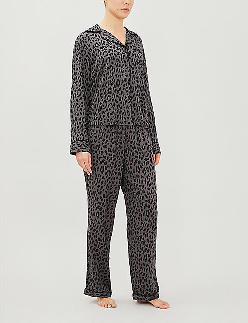 RAILS Clara graphic-print stretch-jersey pyjamas