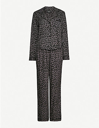 RAILS: Clara graphic-print stretch-jersey pyjamas