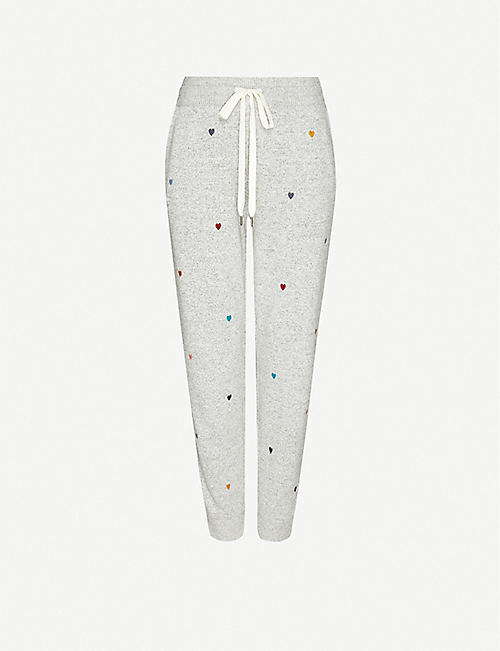 RAILS Oakland heart-print knitted jogging bottoms