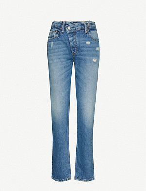 BOYISH Casey Crossover high-rise straight jeans