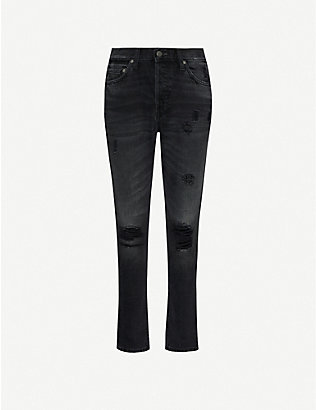 BOYISH: The Billy distressed skinny high-rise jeans