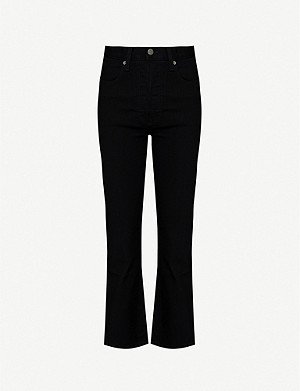 BOYISH Brady high-rise flared cropped jeans