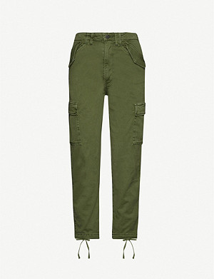 BOYISH The Kai tapered stretch-cotton cargo trousers