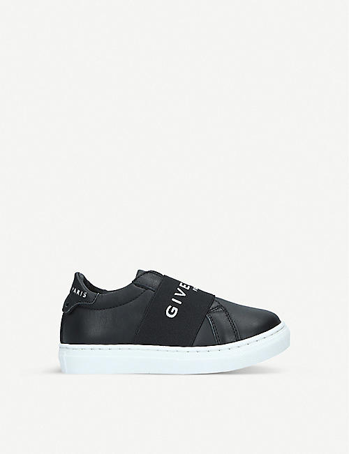 GIVENCHY: Logo-print leather trainers 2-7 years