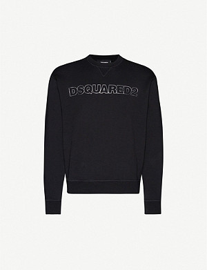 DSQUARED2 Logo-embroidered cotton-jersey sweatshirt