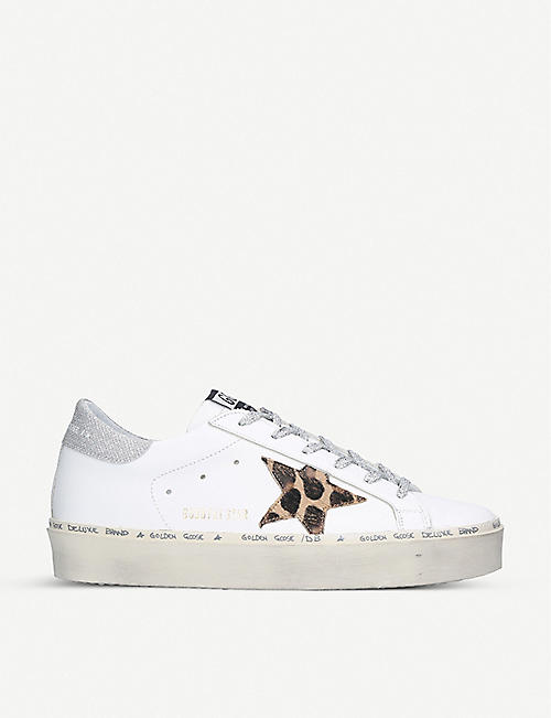 GOLDEN GOOSE Hi Star M7 star-embroidered leather trainers