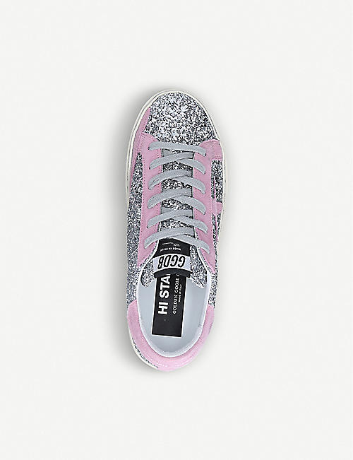 GOLDEN GOOSE Hi Star M8 star-embroidered glitter trainers