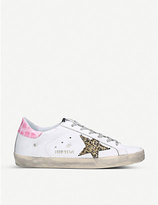 GOLDEN GOOSE: Superstar S58 leather trainers