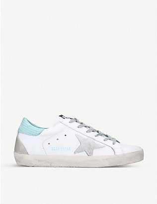 GOLDEN GOOSE: Superstar S77 star-patch leather trainers