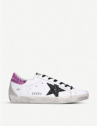 GOLDEN GOOSE: Superstar S91 leather trainers