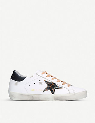 GOLDEN GOOSE: Superstar T54 leather trainers