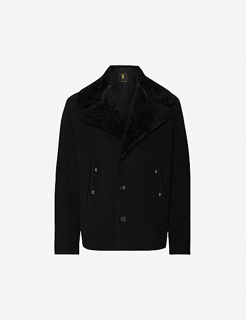 BELSTAFF Shearling-lined wool-blend peacoat
