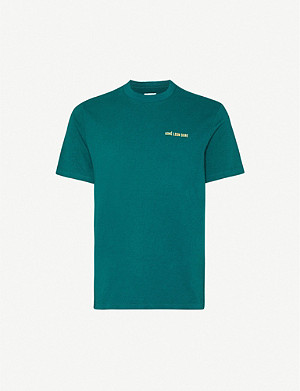 AIME LEON DORE Logo-embroidered cotton-jersey T-shirt