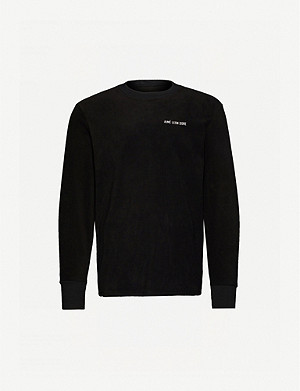 AIME LEON DORE Brand-embroidered crewneck fleece sweatshirt