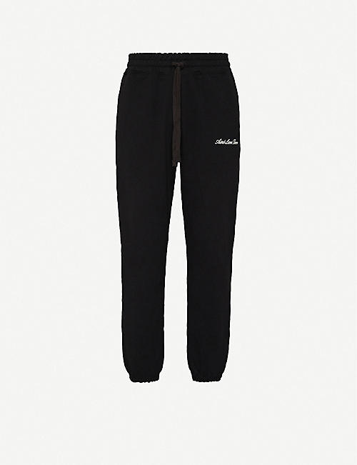 AIME LEON DORE Logo-embroidered cotton-jersey jogging bottoms