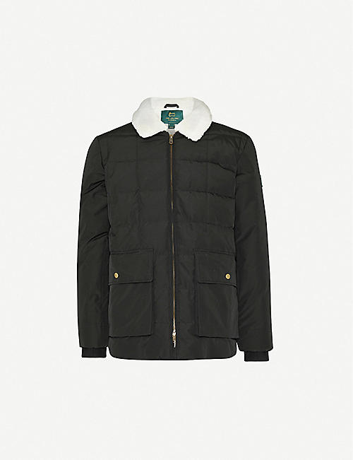 AIME LEON DORE Woolrich x Aimé Leon Dore faux-fur trim cotton-blend down jacket