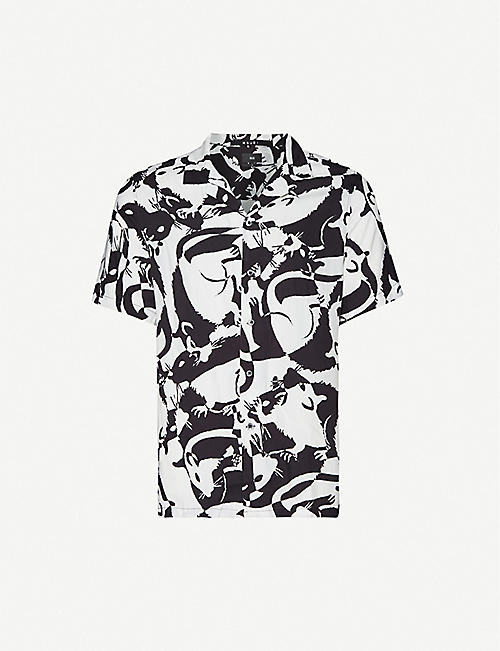 KSUBI Abstract-print woven short-sleeve shirt