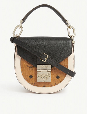 MCM Patricia Visetos canvas and leather shoulder bag