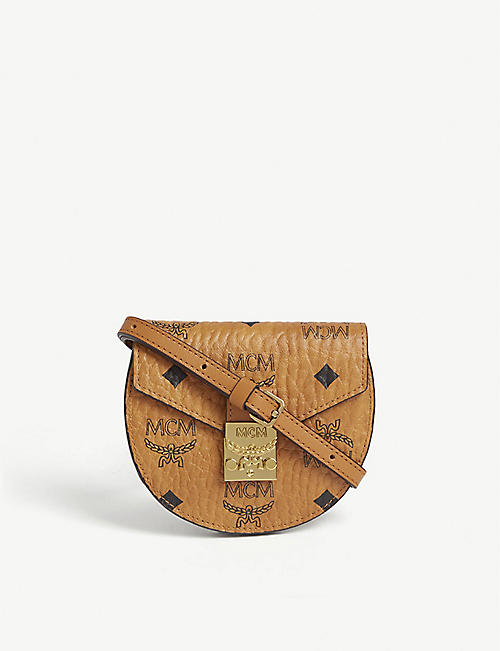 MCM: Patricia Visetos canvas and leather shoulder bag
