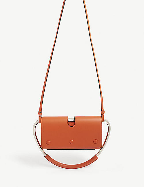 S T E E Neo ring leather top handle bag