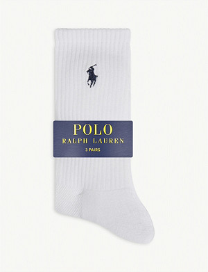 POLO RALPH LAUREN Logo ribbed socks pack of three