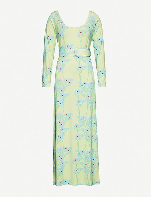 BERNADETTE Charlotte floral-print stretch-jersey maxi dress