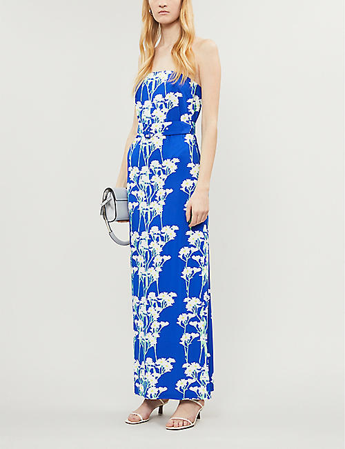 BERNADETTE Carrie strapless stretch-jersey maxi dress