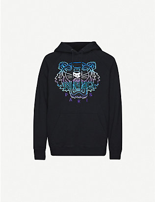 KENZO: Graphic-print cotton-jersey hoody