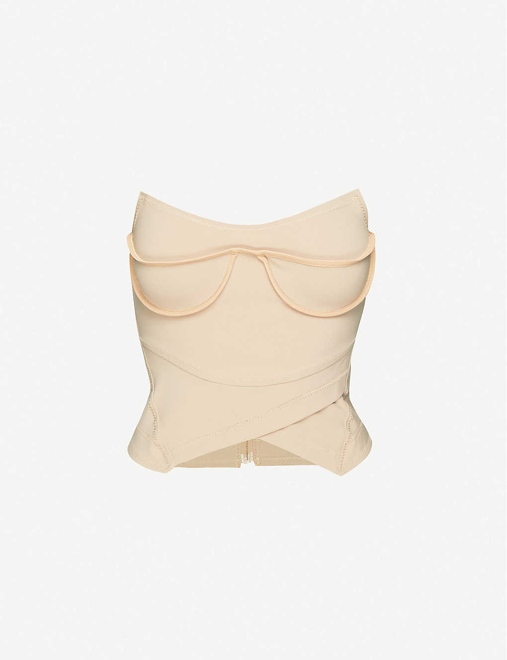 CHARLOTTE KNOWLES: Lily strapless stretch-woven top