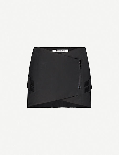 CHARLOTTE KNOWLES: Embrace asymmetric cotton-blend mini skirt