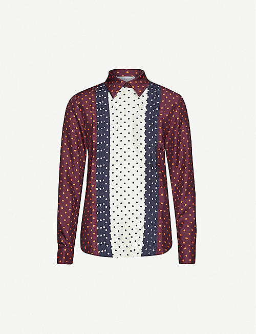 GABRIELA HEARST Mirtha polka-dot silk-satin shirt